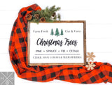 Christmas Tree Classic Handmade Wood Sign