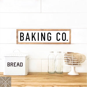 Baking Co. Handmade Wood Sign