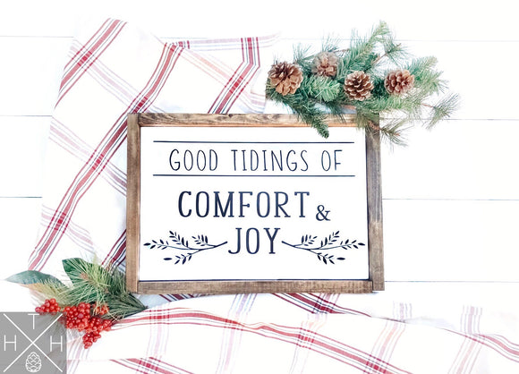 Comfort & Joy Handmade Wood Sign