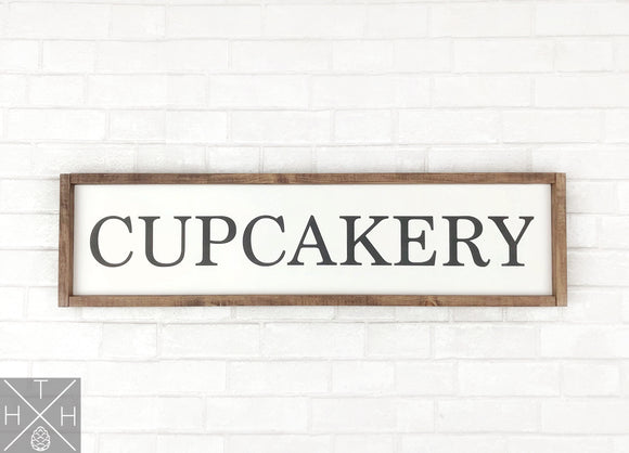 Cupcakery Handmade Wood Sign