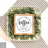 Coffee Lover Bundle: Interchangeable Sign Inserts set of 4 **INSERTS ONLY**