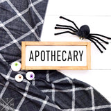Apothecary Handmade Wood Sign