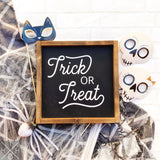 Trick or Treat Retro Interchangeable Sign Insert  **INSERT ONLY**