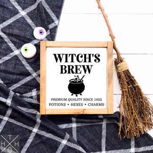 Witch's Brew Handmade Wood Sign