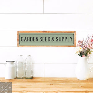Garden Seed and Supply Handmade Wood Sign