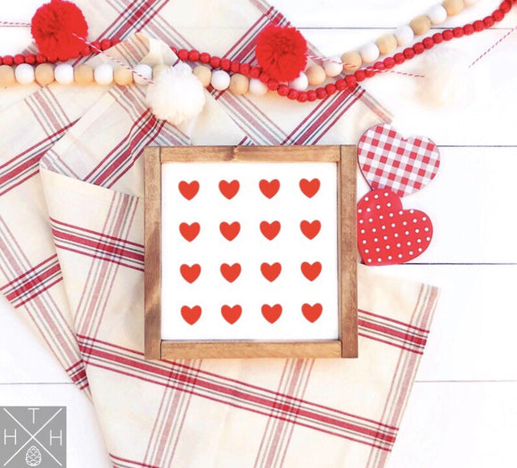 Heart Pattern Interchangeable Sign Insert  **INSERT ONLY**