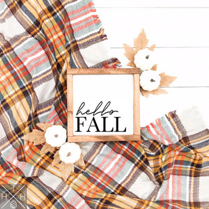 Hello Fall Interchangeable Sign Insert  **INSERT ONLY**