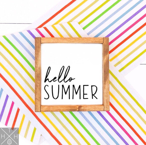 Hello Summer Handmade Wood Sign