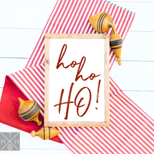 Ho Ho Ho! Handmade Wood Sign