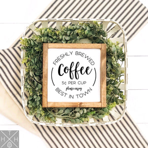 Coffee Interchangeable Sign Insert  **INSERT ONLY**