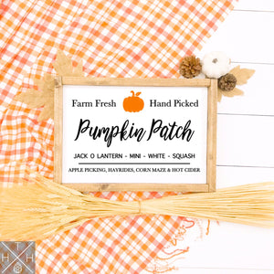 Pumpkin Patch Classic Handmade Wood Sign