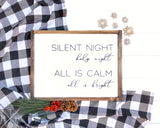 Silent Night Handmade Wood Sign