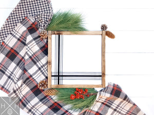 12x12 Plaid Handmade Wood Sign