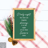 O Holy Night Lyrics Handmade Wood Sign