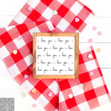 I Love You Pattern Handmade Wood Sign