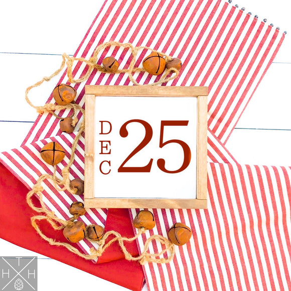 December 25 Date Interchangeable Sign Insert  **INSERT ONLY**