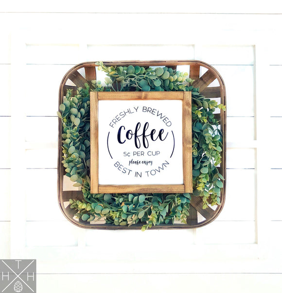 Coffee Bar Handmade Wood Sign