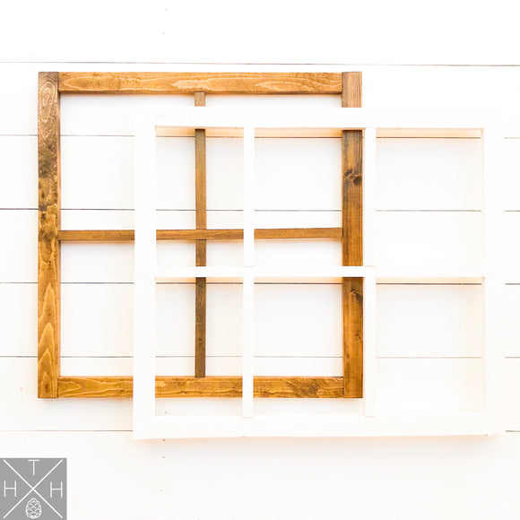 Handmade Wood Window Frame