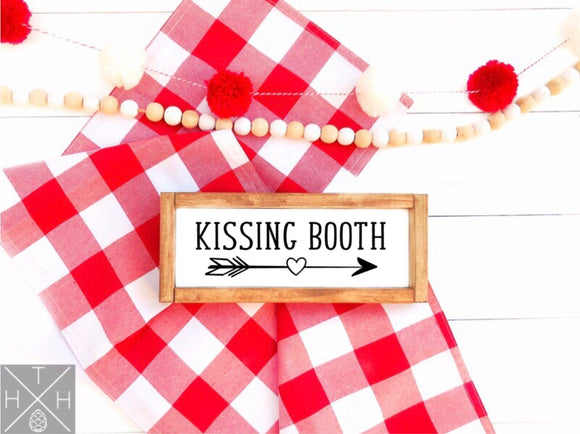 Kissing Booth Handmade Wood Sign