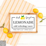 Lemonade Stand Handmade Wood Sign