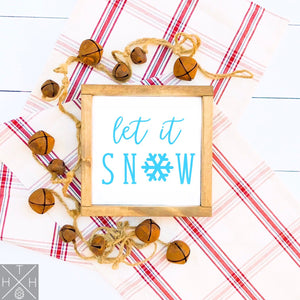 Let it Snow Handmade Wood Sign
