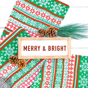 Merry & Bright Handmade Wood Sign