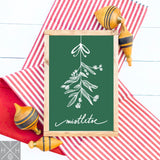 Mistletoe Hand drawn by Jessica @reefrainaria Handmade Wood Sign