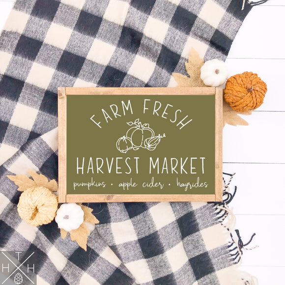 Reefrainaria Harvest Market Handmade Wood Sign