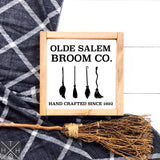 Olde Salem Broom Co. Handmade Wood Sign