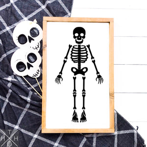 Skeleton Handmade Wood Sign