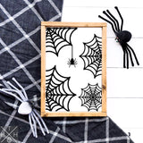 Spider Webs Handmade Wood Sign