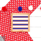 Red White and Blue Stripes Handmade Wood Sign