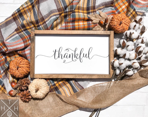 Handmade wood sign, home decor, fall home decor, fall sign, hello fall, autumn, thankful, thankful sign, living room decor, holiday decor, thanksgiving decor