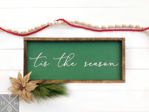 Tis the Season or Joy to the World or O Holy Night Handmade Wood Sign