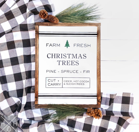 Christmas Trees Handmade Wood Sign