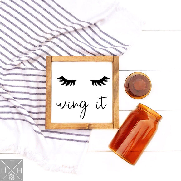 Wing It Handmade Wood Sign