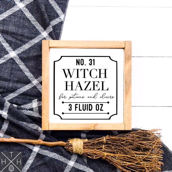 Witch Hazel Handmade Wood Sign
