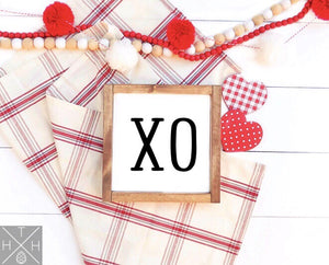 XO Handmade Wood Sign