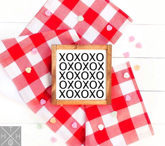 XOXO Pattern Handmade Wood Sign
