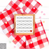 XOXO with Heart Pattern Interchangeable Sign Insert  **INSERT ONLY**