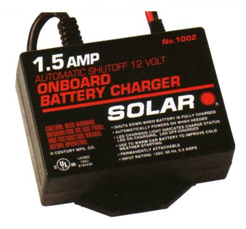 1002 Solar 1.5 Amp 12 Volt On-Board Automotive Battery Charger