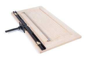 True Position Tools TP-1935 Cabinet Jig with Long Hardware Extensions Handles and Shelf pin, Black