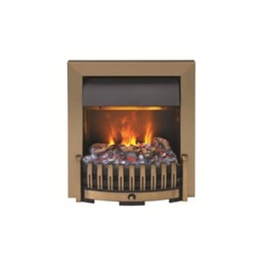 Dimplex Antique Brass Danville OptiMyst Smoke & Flame Effect Insert Fire Place