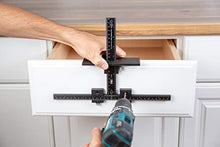Load image into Gallery viewer, True Position Tools TP-1935 Cabinet Jig with Long Hardware Extensions Handles and Shelf pin, Black