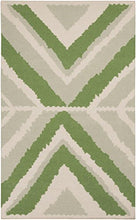 Load image into Gallery viewer, Diva At Home 8' x 11' Anasazi Manta Apple Green and Gray Hand Woven Wool Area Throw Rug