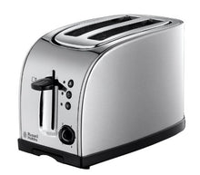 Load image into Gallery viewer, Russell Hobbs Texas 2-Slice Toaster 18096 - Stainless Steel and Silver