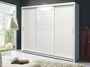 brand new 4ddaf 5c0ad DAKO FURNITURE Sliding Door Wardrobe MALIBU White 8.2 ft / 250 cm Width