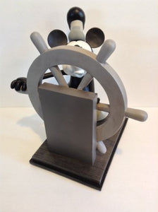 Disney Parks Mickey Mouse Steamboat Willie 85th Anniversary Medium Big Fig Figure Figurine NEW!!