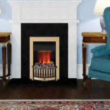 Load image into Gallery viewer, Dimplex Antique Brass Danville OptiMyst Smoke & Flame Effect Insert Fire Place