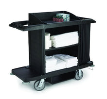 Load image into Gallery viewer, Rubbermaid Housekeeping Service Cart - Black
